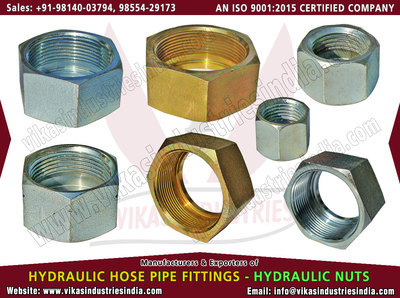Hydraulic Nuts manufacturers suppliers exporters distributors dealers from India punjab ludhiana +91 98140 03794, 98554 29173 http://www.vikasindustriesindia.com Email: info@vikasindustriesindia.com